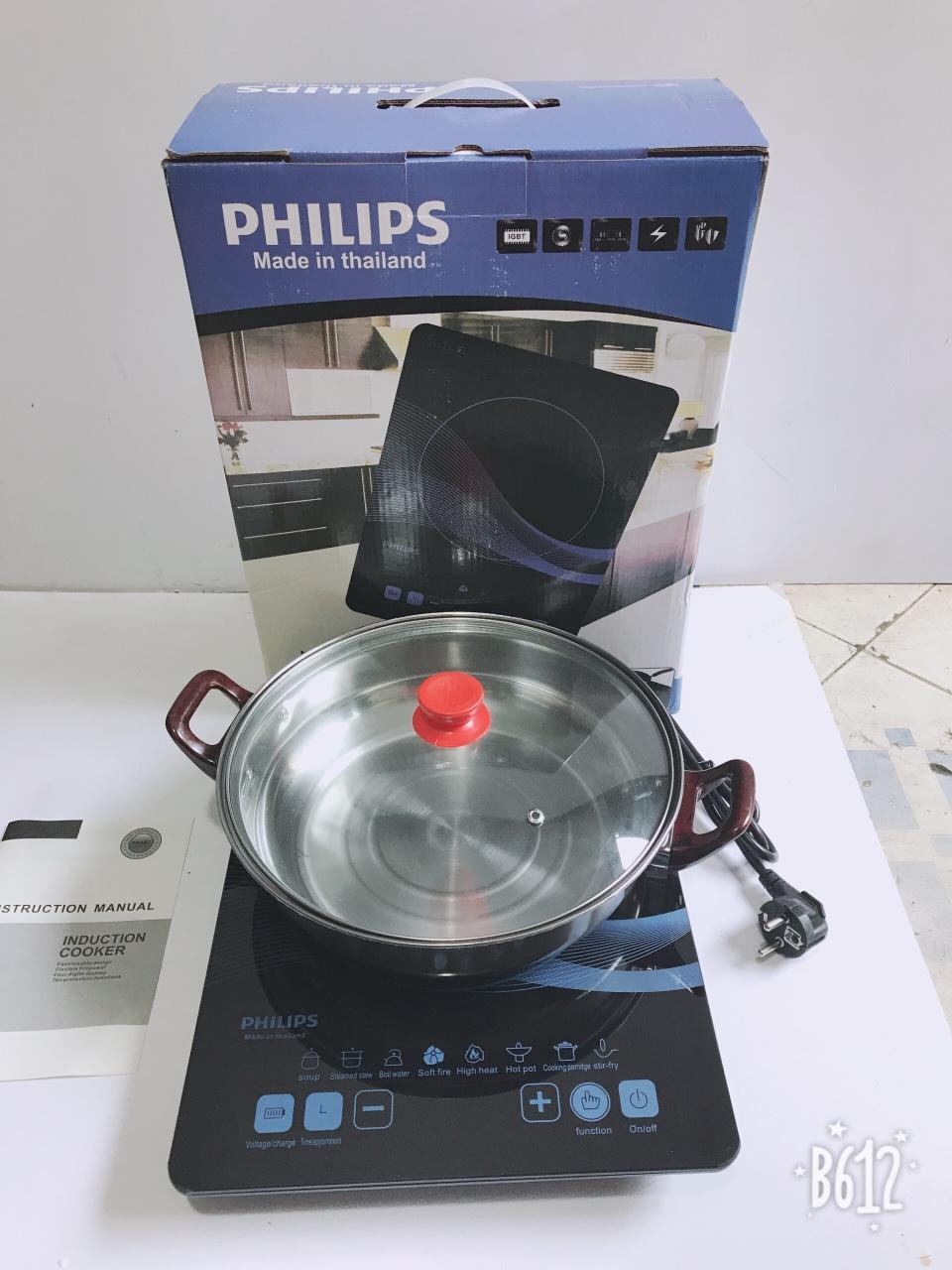 Bếp điện từ cảm ứng PHILIPS PL-01 (MADE IN THAILAND) tặng nồi INOX ( SALE )