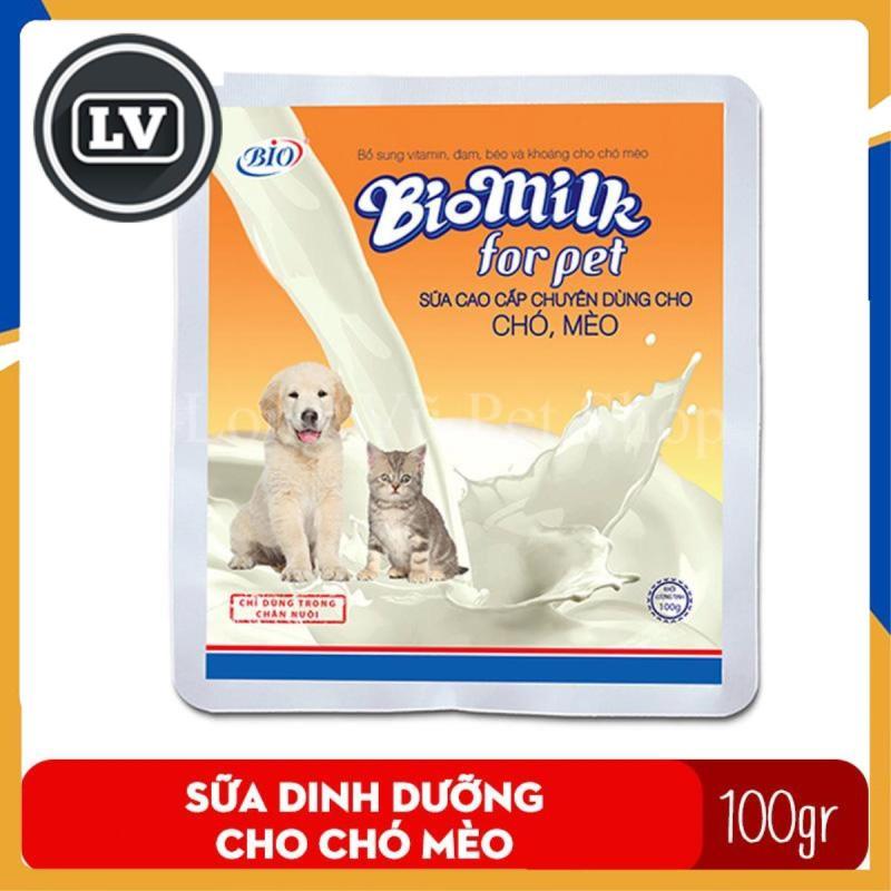 Sữa bột cho chó mèo Bio Milk 100gr cung cấp dinh dưỡng cho chó, mèo