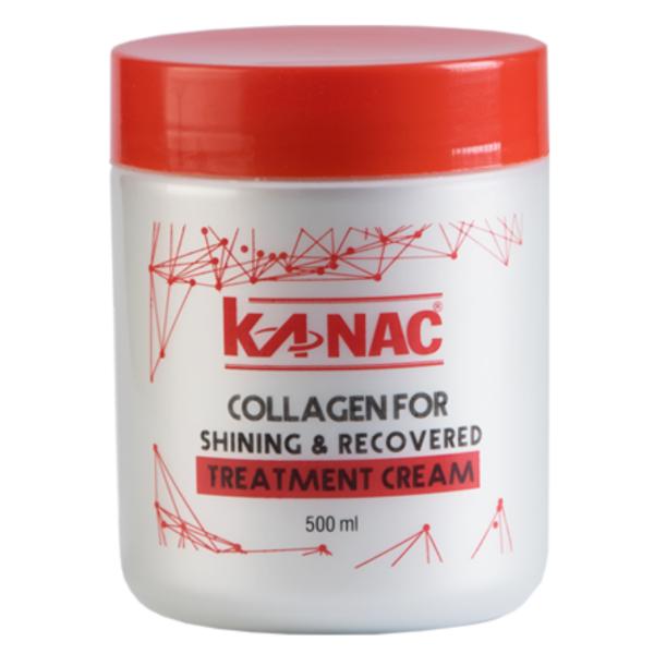 [bảo vệ màu nhuộm] Hấp dầu ủ tóc phục hồi phủ bóng Collagen Kanac 500ml cho tóc xơ chẻ ngọn