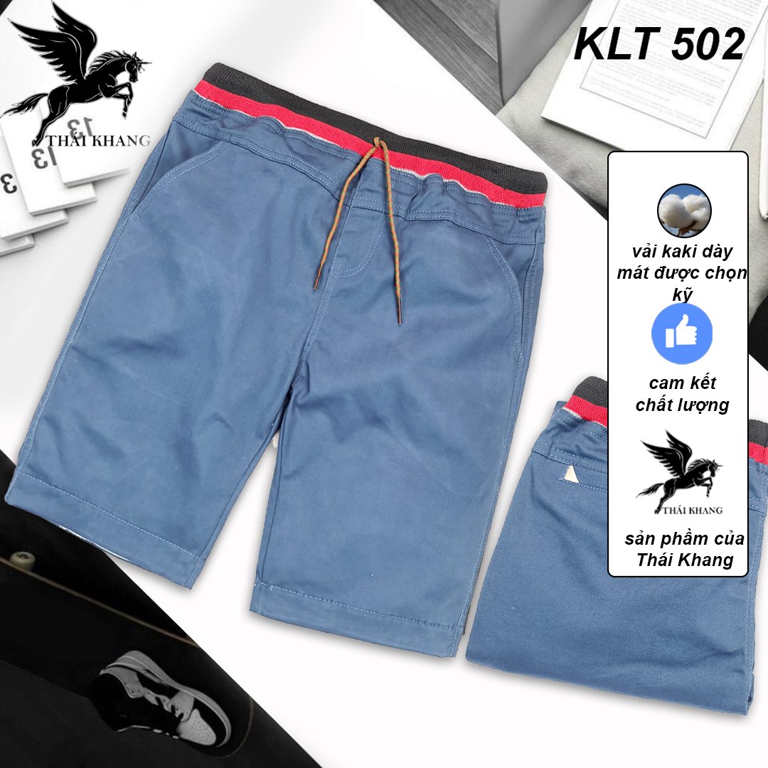Quần short kaki nam lưng thun cotton vải dày mát loại quần short nam dài qua đùi gối THÁI KHANG QSKLT50
