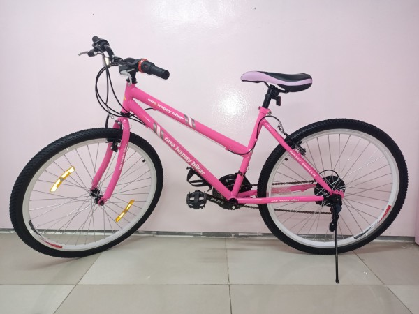 Phân phối Tặng bình nước - Xe đạp thể thao  HAHOO - HAPPY (2 màu xanh, hồng)