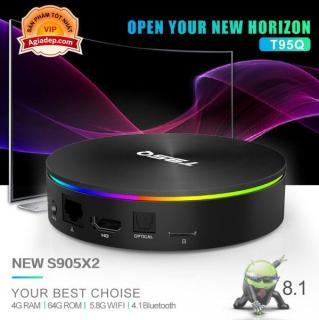 TVBOX Siêu mạnh 4K T95Q-SX S905X2 Android 8.1 Hỗ trợ Gigabit 5G WIFI Bluetooth 4G - tivibox thế hệ mới thumbnail