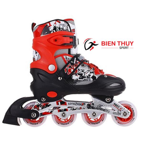Giá bán Giày trượt Patin - Giày Trượt  Long Feng 906 (4 Màu ) Đỏ - Đen Trắng - Xanh Trắng - Hồng Trắng