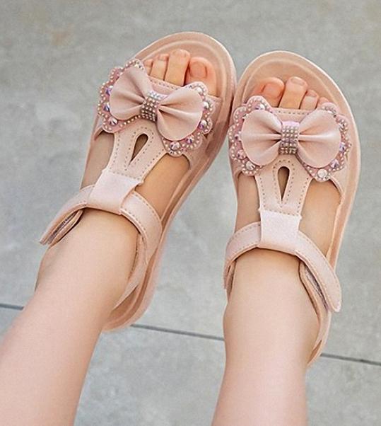 Sandal đính nơ dễ thương cho bé gái từ 3 đến 14 tuổi SS26 giá rẻ
