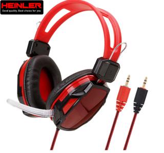 Tai nghe chụp tai có dây Heinler A6 kèm mic cách âm tốt dành cho game thủ, học ngoại ngữ, học trực tuyến thumbnail