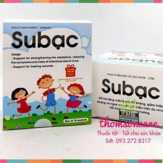 Cốm Su bạc - tăng cường sức đề kháng - mua 10 tặng 1 bằng tem tích điểm Subac sản phẩm có nguồn gốc xuất xứ rõ ràng dễ dàng sử dụng cam kết sản phẩm y như hình thumbnail