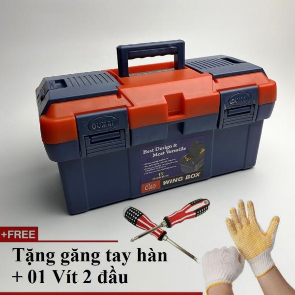 Hộp đựng đồ nghề nhựa ABS, vỏ dày bền bỉ Wing Box 15 (38x20x18cm)