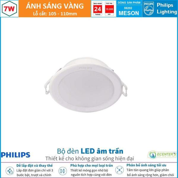 Đèn Led Âm Trần 7W Philips Downlight MESON 59202 D105 ( Ánh Sáng Trắng & Trung Tính & Vàng  )