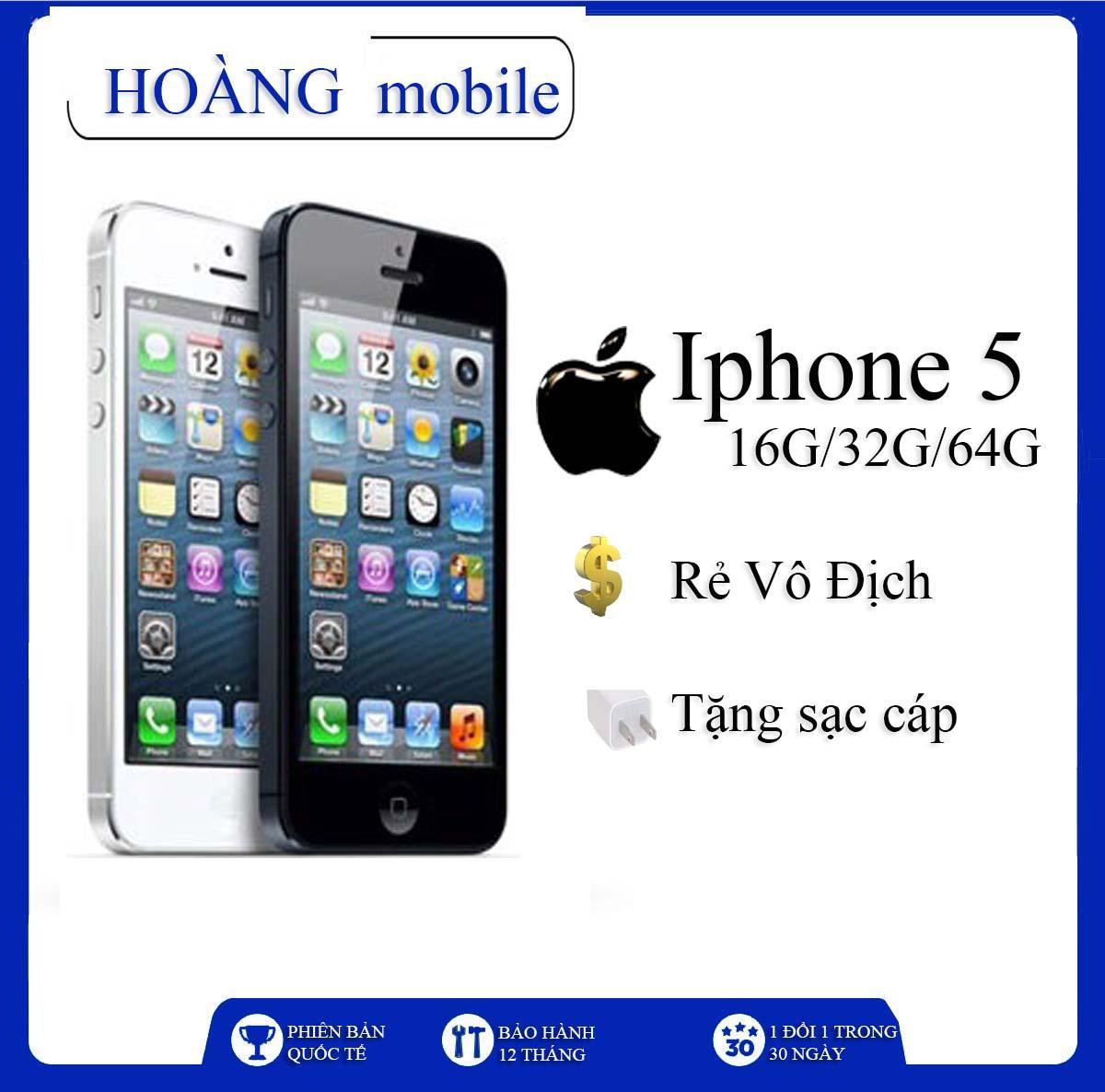 Điện thoại iPHONE 5 -16G/32G/64G RẺ VÔ ĐỊCH. Bản quốc tế, bảo hành 6 tháng.