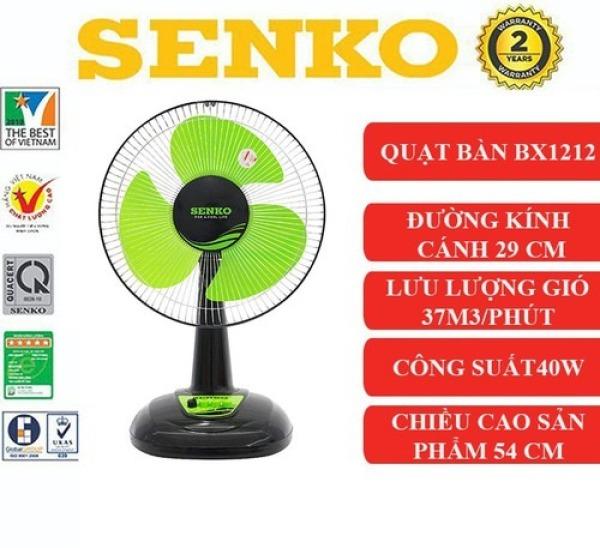 Quạt điện Senko mẫu mới BX1212 tiện lợi cao cấp màu ngẫu nhiên