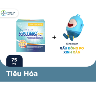 Thực Phẩm Bảo Vệ Sức Khoẻ Bổ Sung Lợi Khuẩn Antibio pro 100 Gói (10 Túi x 10 Gói Bột 1G) - Tặng 1 thú bông Antibio thumbnail