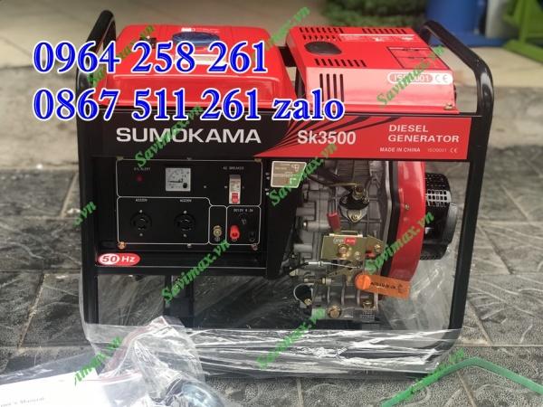 Máy phát điện sumokama 3500 chạy d.ầu tại Thái Nguyên