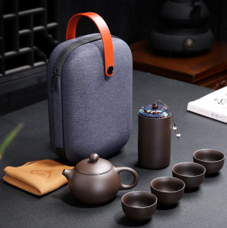 [SALE KHO] Bộ bình trà có túi đựng đi du lịch + Tặng Kèm Khăn Lau Cao Cấp thumbnail