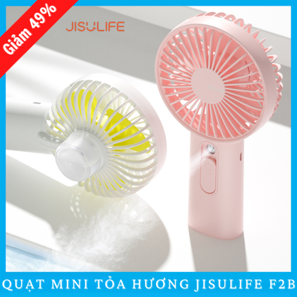 Quạt Mini Cầm Tay Tích Điện Jisulife F2B Tỏa Hương Thơm Khuếch Tán Tinh Dầu Và Nước Hoa