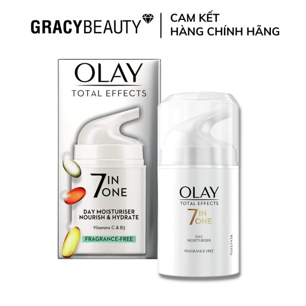 Kem dưỡng Olay không hương liệu Olay Total Effects 7in1 Anti-Ageing Moisturiser Fragrance-Free 50ml [Bản UK]