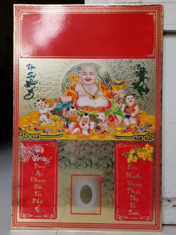 Bìa lịch treo tường 40 x60 hình Phật Di Lạc
