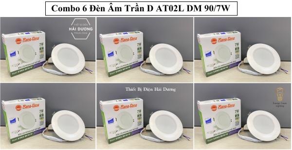 Bộ 6 Đèn LED Downlight đổi màu Rạng Đông D AT02L ĐM 90/7W
