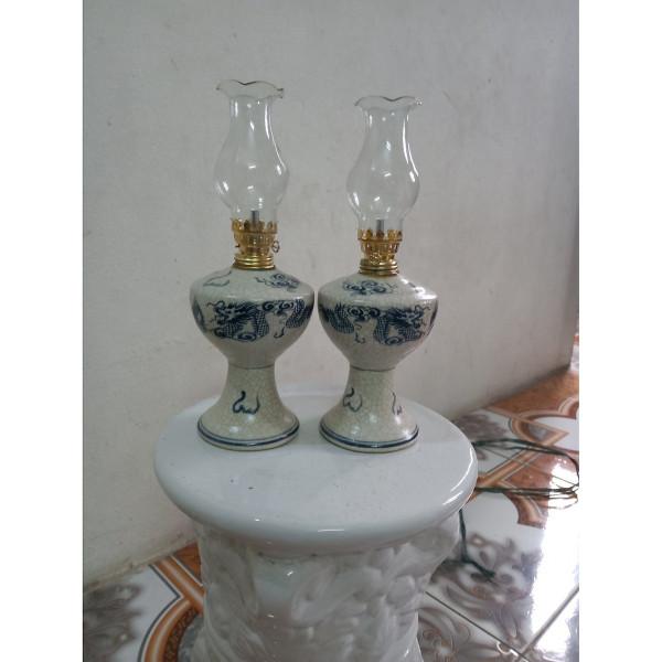 Bộ 02 đèn thờ gốm sứ Bát Tràng