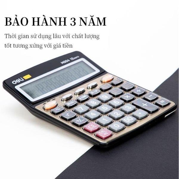 Mua Máy Tính Có Giọng Nói Tiếng Việt 12 số Deli EM00450 màu vàng gold