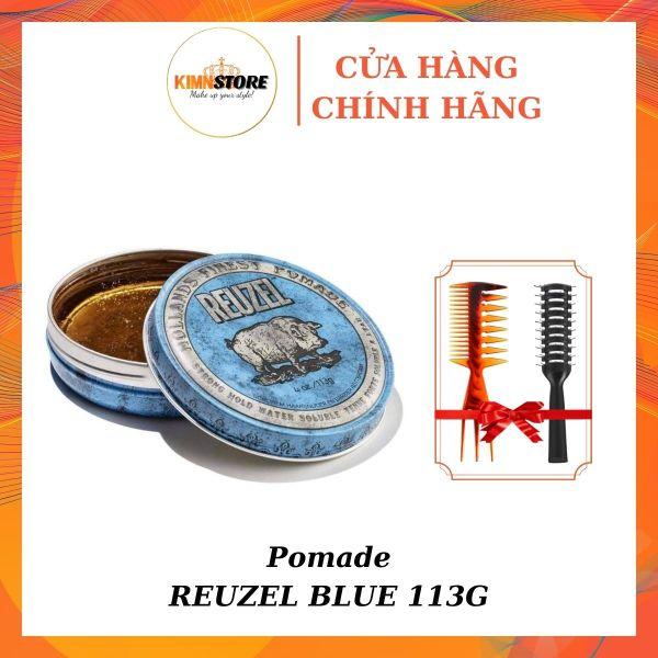 Pomade tạo kiểu tóc Reuzel Blue 113g - Sáp vuốt tóc Pomade gốc nước
