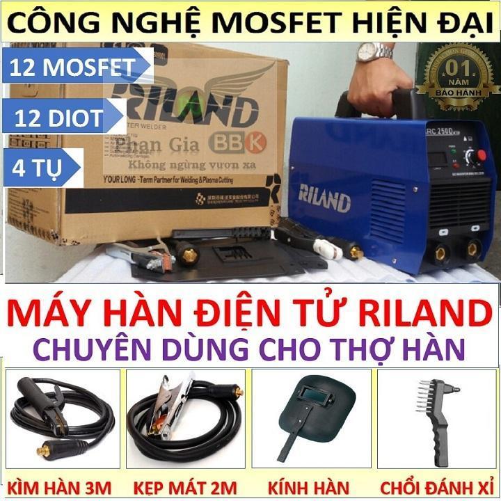 Máy hàn điện tử Riland, Máy hàn que, Máy hàn mini công nghệ Mosfet - bảo hành 12 tháng