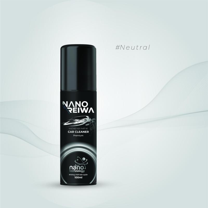 Diệt khuẩn, khử mùi ô tô Nano Reiwa Premium 100ml - Không mùi