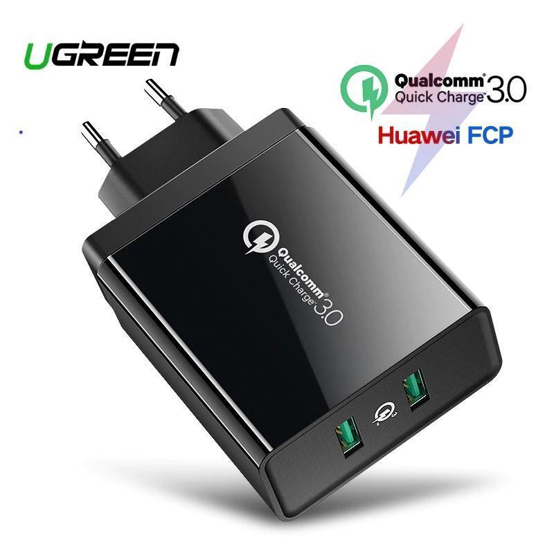 Củ sạc nhanh đa năng 2 cổng Quick Charge 3.0 36W Ugreen
