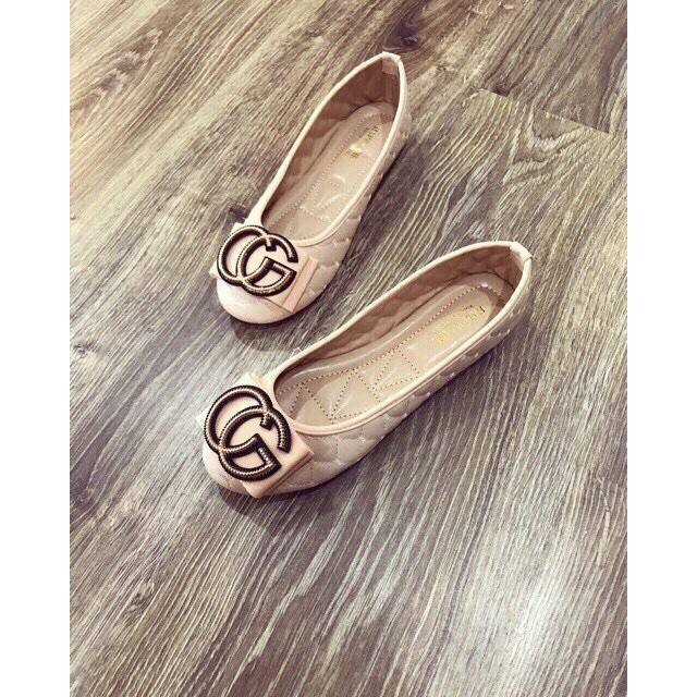 Giày búp bê trần chỉ khóa G êm chân