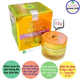 Kem ngừa mụn, giảm thâm, giúp làm mờ sẹo giúp cải tạo làn da mới trắng hồng tự nhiên OLYHT WHITE (12g ) thumbnail