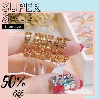 Nhẫn mạ bạch kim nữ đẹp mạ vàng thật cao cấp, nhẫn kim tiền may mắn chạm hoa văn tinh xảo phong thủy tài lộc phát tài thiết kế sang trọng tinh tế xinh đẹp trang sức Gado N102 thumbnail
