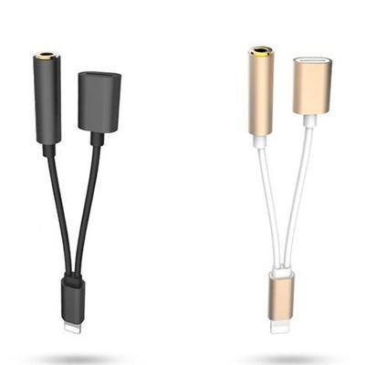 Giá [SALE GIÁ SỐC] Cáp chuyển tai nghe iPhone 5 6 7 vừa sạc pin vừa nghe nhạc bằng cổng sạc iphone ad24