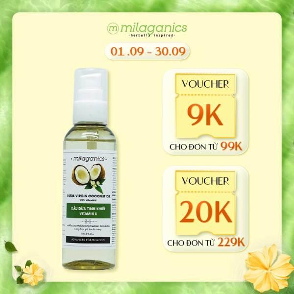Dầu Dừa Tinh Khiết Vitamin E 3 dưỡng Da-Tóc-Môi MILAGANICS 100ml nhập khẩu