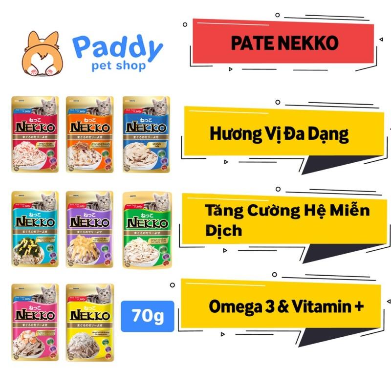 Pate Cho Mèo Nekko 8 Vị Gói 70g - Cá Ngừ Rắc Cá Bào