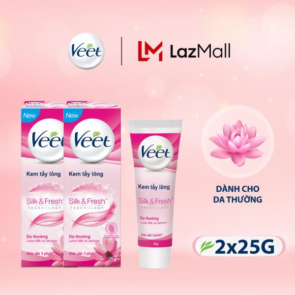 Combo 2 Kem Tẩy Lông Cho Da Thường Veet Silk Fresh 25G