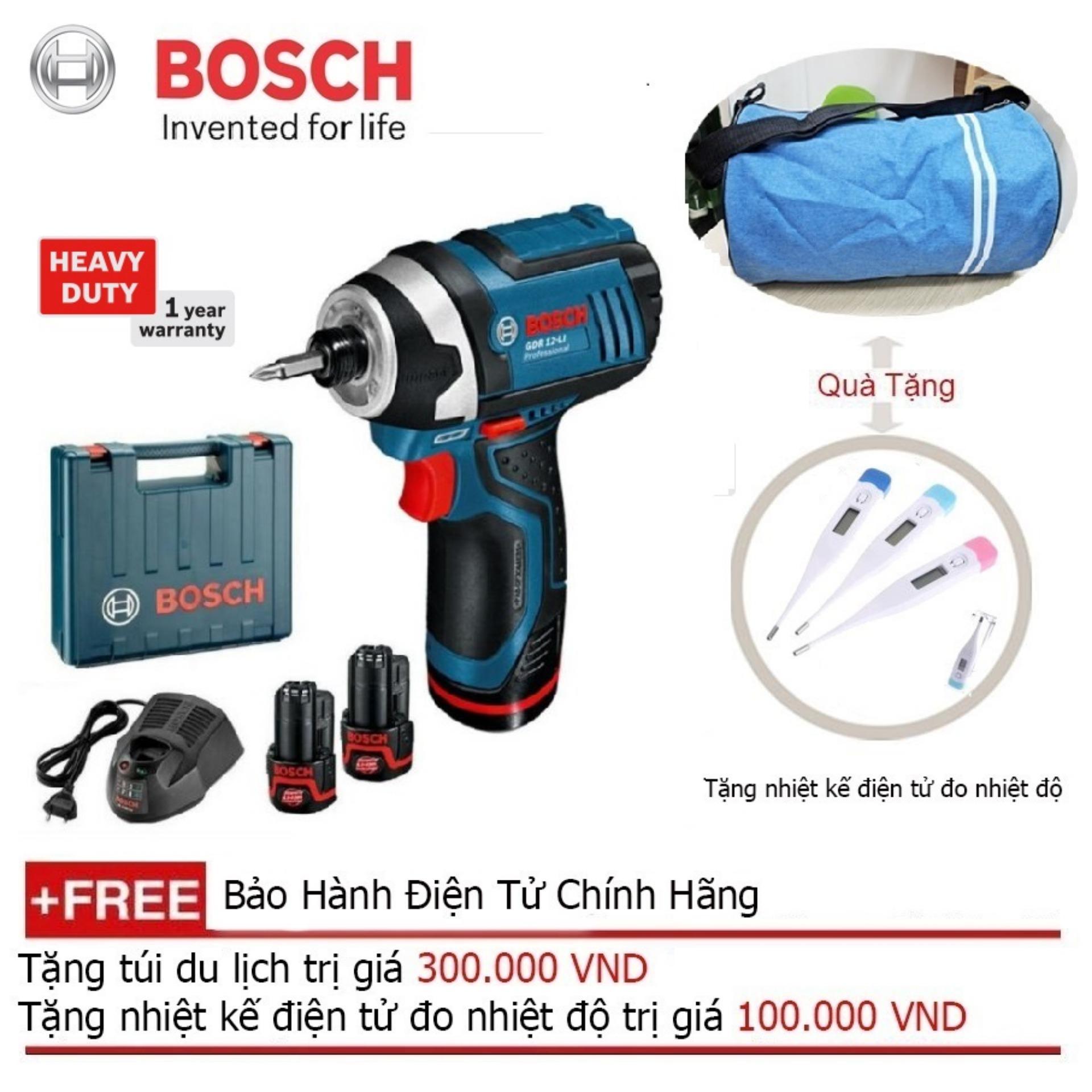 Máy vặn ốc động lực dùng pin Bosch GDR 12-LI  + Quà tặng balo du lịch