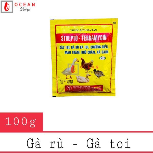 Thuốc đặc trị gà rù, gà toi, xã cánh - Thuốc Strepto Teramycin 100g