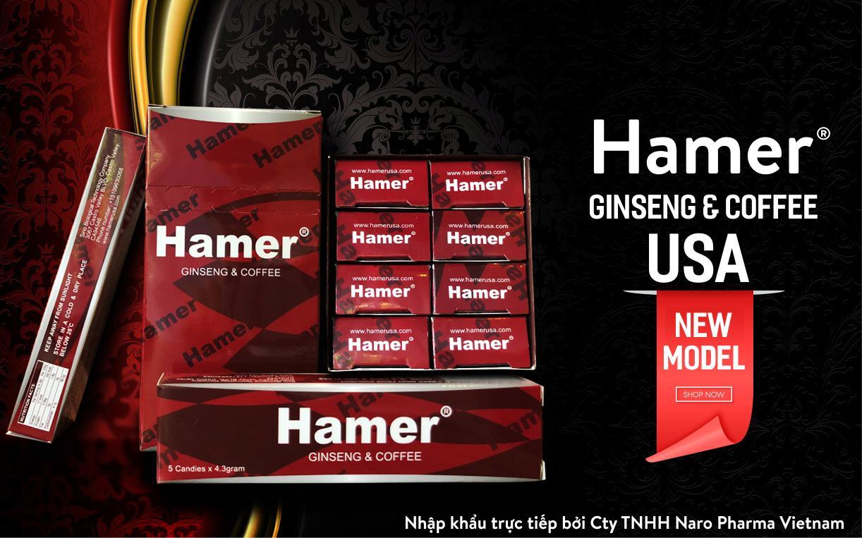 Kẹo sâm Hamer Mỹ hộp 5 viên