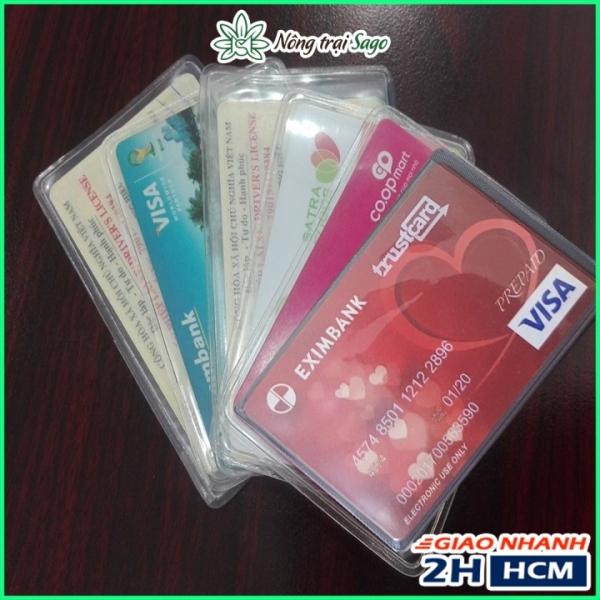 [4 Cái] Túi Đựng CCCD, Card Visit, Thẻ ATM, Bằng Lái... - Giúp Bảo Vệ Thẻ Bị Trầy Xước Va Chạm Làm Hư Chip, Làm Bay Màu Thẻ