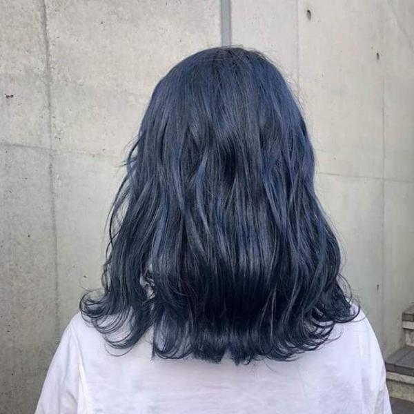 Thuốc nhuộm tóc màu Xanh Dương Đen Khói + kèm oxi