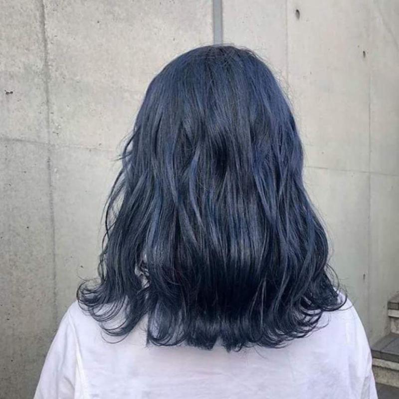 Thuốc nhuộm tóc màu Xanh Dương Đen Khói + kèm oxi cao cấp