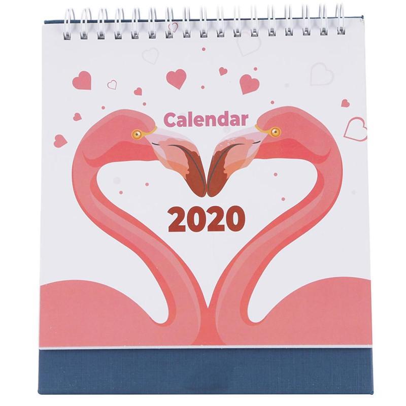 Lịch Để Bàn 2020 Đôi Chim Hồng Hạc Hạnh Phúc - Có Lịch Âm ( Quà tặng Valentine / Quà tặng Lễ Tình Nhân)