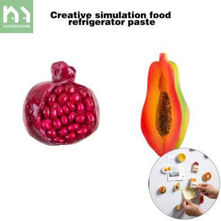 Homenhome Miếng Dán Nam Châm Tủ Lạnh Hình Thức Ăn Bằng Nhựa 3D