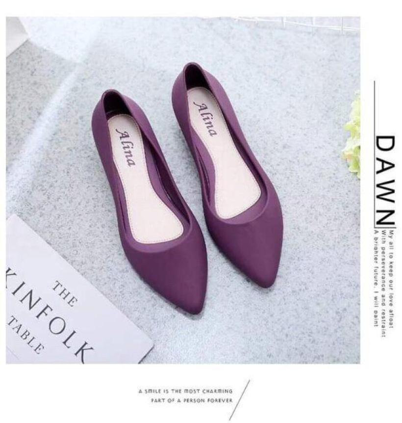 Giày bệt nữ, giày búp bê nữ nhựa dẻo đi mưa chống nước siêu tốt kèm clip thật nhé ạ (form nhỏ lấy tăng 1 size) giá rẻ