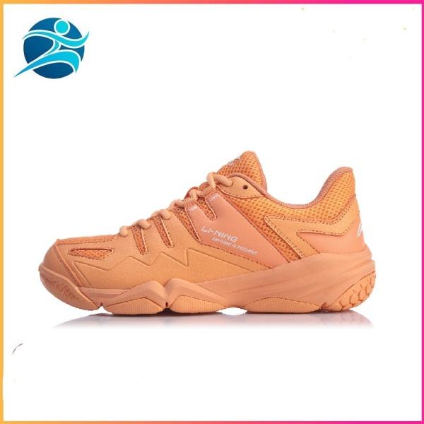 Bảng giá Giày cầu lông nữ Lining AYTQ008-3 mẫu mới, chống lật cổ chân, màu cam da, hàng có sẵn đủ size - Giày bóng chuyền nữ- Giày đánh cầu lông - bsport