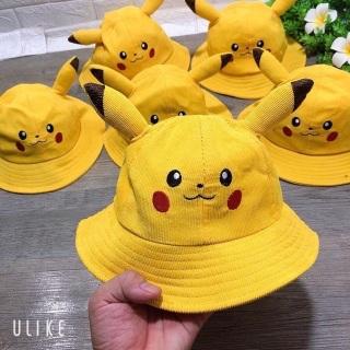 Nón Vành Pikachu Cho Bé 1T Đến 5T - Nón Có Tai Pikachu Cho Bé Trai Bé Gái thumbnail