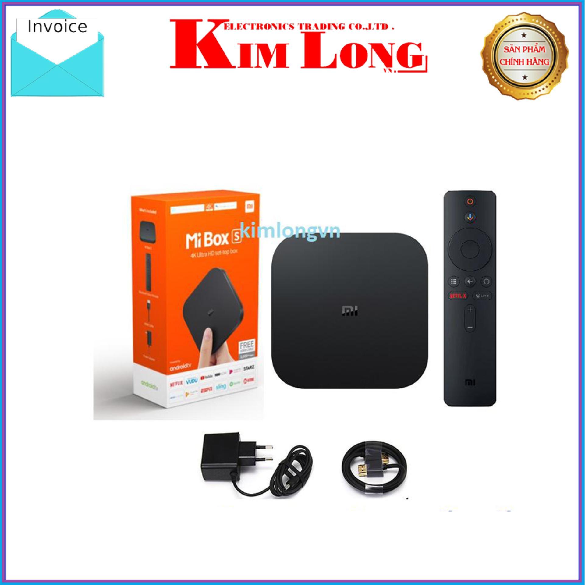 Android TV Box Mibox S 4k HDR Quốc Tế Tiếng Việt - Digiworld phân phối