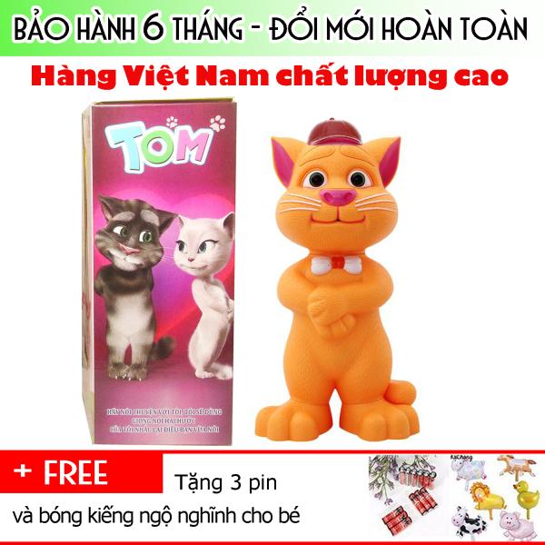 Mèo Tom kể chuyện biết hát thông minh cảm ứng ghi âm nói chất liệu nhựa cao cấp, an toàn cho sức khỏe, đặc biệt là trẻ nhỏ - BẢO HÀNH 6 THÁNG
