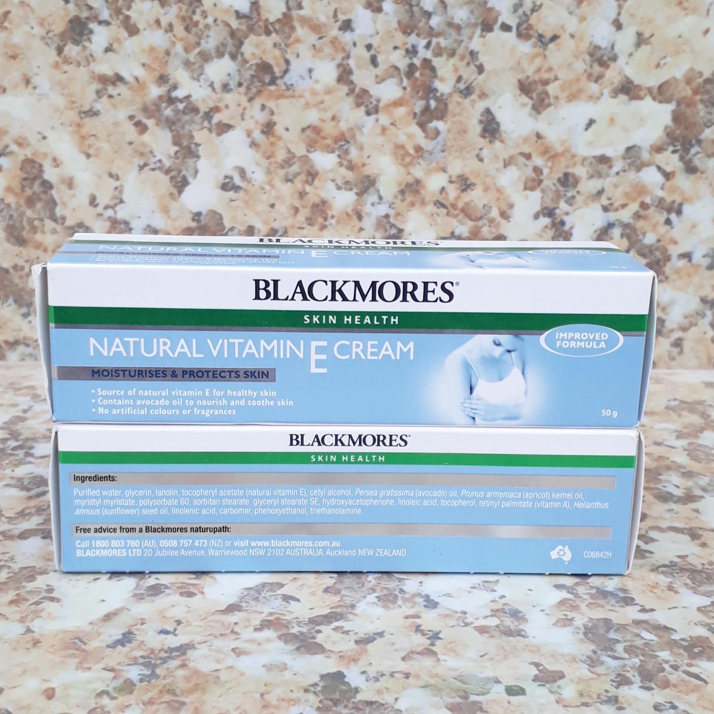 Kem dưỡng da Vitamin E Cream Blackmores - 50g (Mẫu mới có thêm security seal)