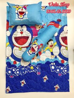 [Xả Kho] Bộ chăn mền, gối nằm, gối ôm mẫu Doraemon (Doremon) cho bé đi học mầm non, tiểu học hoạt hình ngộ nghĩnh - Có bán lẻ gối ôm, chăn, gối nằm, vỏ gối thumbnail