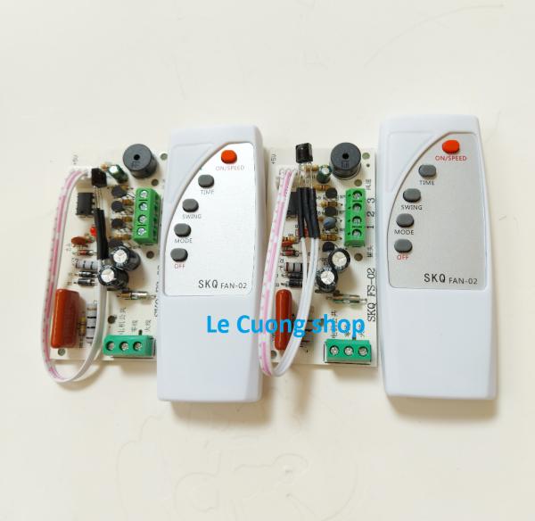 [CỰC SỐC] Combo 2 bộ Mạch điều khiển từ xa cho quạt SKQ02 .Bộ mạch và điều khiển từ xa dành cho quạt bàn, quạt treo tường, quạt cây...biến quạt thường thành quạt điều khiển từ xa.